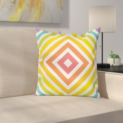 Rainbow Rhombus Pillow Cover Size: 18 x 18