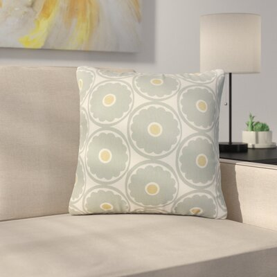Stutler Floral Cotton Throw Pillow Color: Gray
