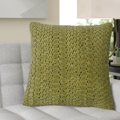 Stoney Littleton 100% Cotton Throw Pillow Size: 18 H x 18 W, Color: Avocado, Filler: Down