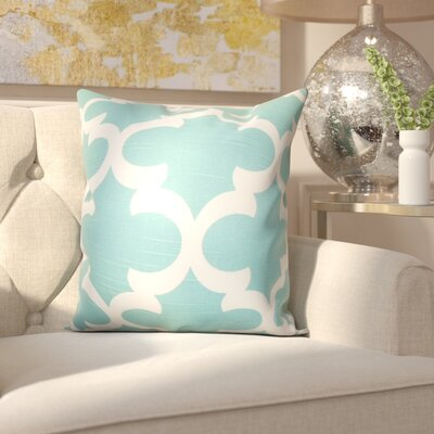 Clyburn 100% Cotton Throw Pillow Color: Spirit Blue, Size: 20 x 20