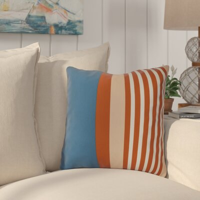 Bartow Beach Shack Outdoor Throw Pillow Size: 18 H x 18 W x 3 D, Color: Teal/Orange
