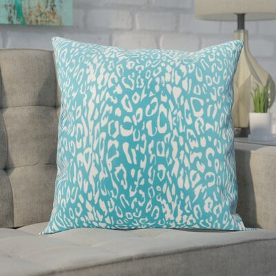 Eustachys Indoor/Outdoor Throw Pillow Color: Turquoise
