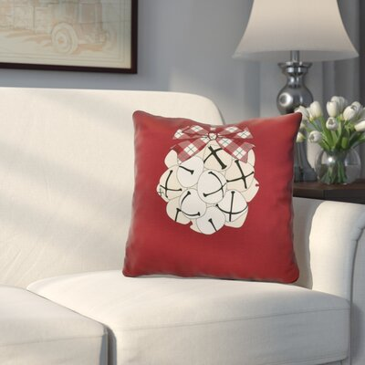 Jingle Bells Throw Pillow Size: 20 H x 20 W, Color: Cranberry