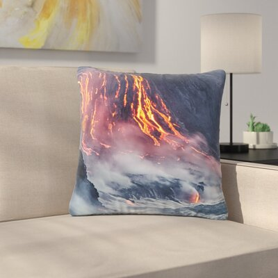 Lava Outdoor Throw Pillow Size: 18 H x 18 W x 5 D
