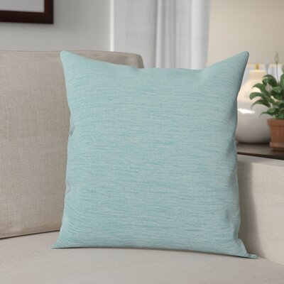 Danin Modern Outdoor Throw Pillow Color: Pool, Size: Small