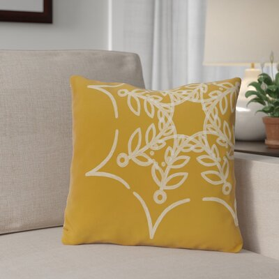 Spider Web Outdoor Throw Pillow Color: Gold