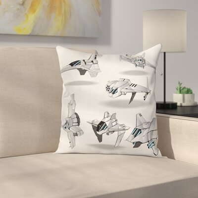 Interceptors Rocket Square Pillow Cover Size: 16