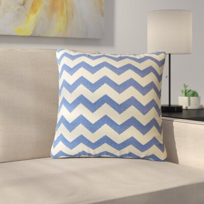 Shevlin Chevron Down Filled Throw Pillow Size: 24 x 24, Color: Ebony