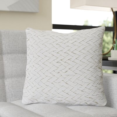 Krueger Down Throw Pillow Size: 20 H x 20 W x 4 D, Color: Ivory