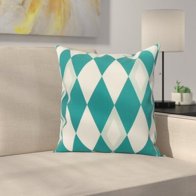 Secrest Throw Pillow Color: Blue, Size: 18 x 18