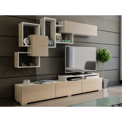 Gowen Entertainment Center Color: Sonomo/White