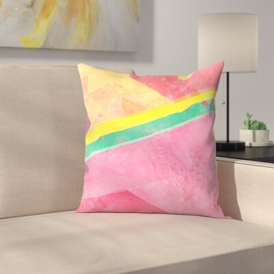 Tracie Andrews Twisted Melon Throw Pillow Size: 18 x 18