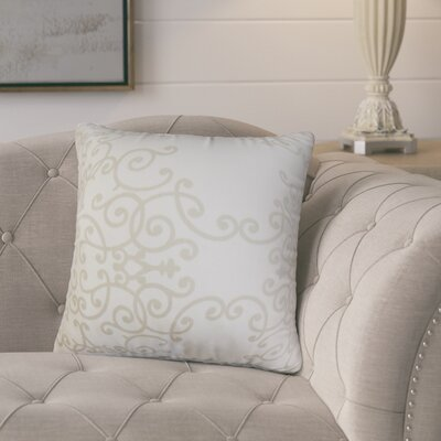 Markes Modern Floral Cotton Throw Pillow Color: White Birch