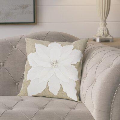 Savanah Throw Pillow Color: White