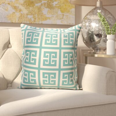 Croydon Geometric Decorative Outdoor Pillow Color: Bahama, Size: 16 H x 16 W x 1 D