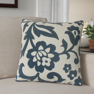 Sammi Floral Throw Pillow Color: Indigo