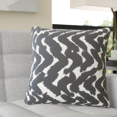 Rector Zigzag Cotton Throw Pillow Color: Black