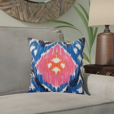Bridgehampton Traditional Geometric Print Throw Pillow Size: 26 H x 26 W, Color: Dark Blue