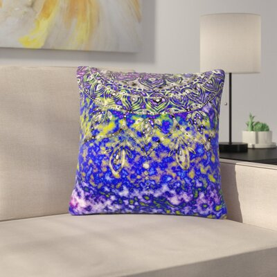 Li Zamperini Multicolor Mandala Art Abstract Outdoor Throw Pillow Color: Multicolor, Size: 16 H x 16 W x 5 D