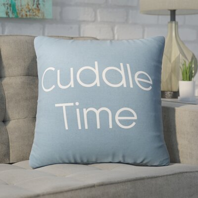 Pettis Cuddle Time Throw Pillow Pillow Cover Color: Blue