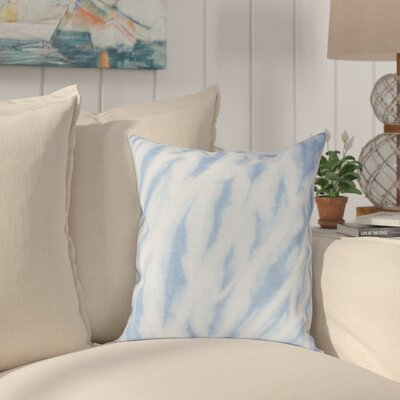 Grand Ridge Shibori Stripe Geometric Throw Pillow Size: 16 H x 16 W, Color: Blue