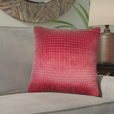Karen Solid Throw Pillow Color: Red