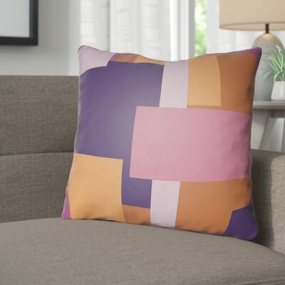 Wakefield Throw Pillow Size: 18 H x 18 W x 4 D, Color: Pink / Orange / Purple