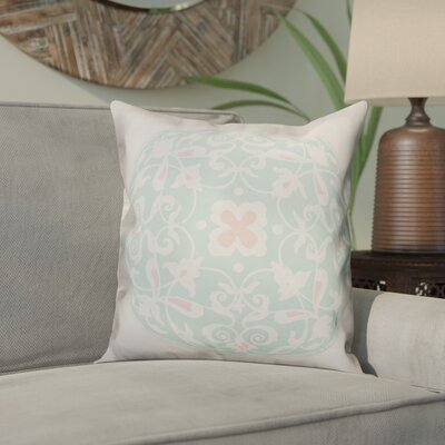 Clayborn Circle Throw Pillow Color: Light Green