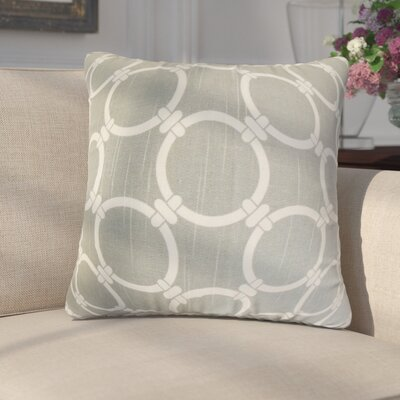 Donatella Geometric Cotton Throw Pillow Color: Ash