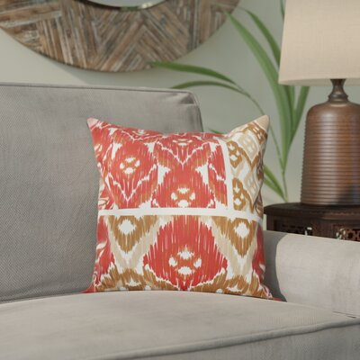 Meetinghouse Free Spirit Geometric Print Throw Pillow Size: 16 H x 16 W, Color: Coral