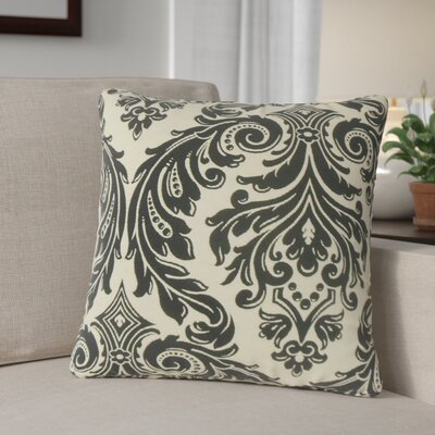 Deweese Damask Throw Pillow Color: Onyx