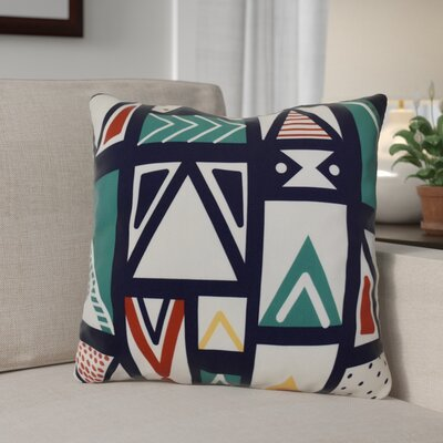Christmas Outdoor Throw Pillow Size: 16 H x 16 W, Color: Teal