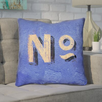 Enciso Graphic Wall 100% Cotton Throw Pillow Size: 14 x 14, Color: Blue/Beige