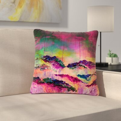 Ebi Emporium Its a Rose Colored Life Outdoor Throw Pillow Size: 16 H x 16 W x 5 D, Color: Yellow/Red