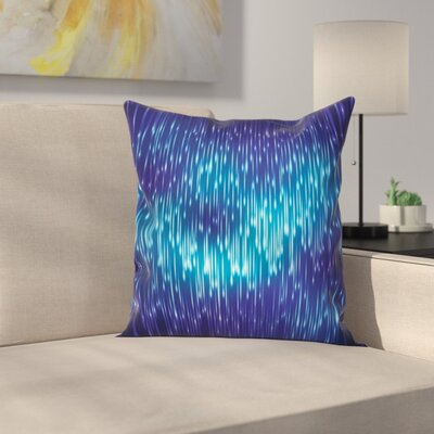 Cosmic Rain Effect Vivid Square Pillow Cover Size: 24 x 24