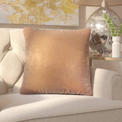 Alivia Solid Linen Throw Pillow Color: Amber