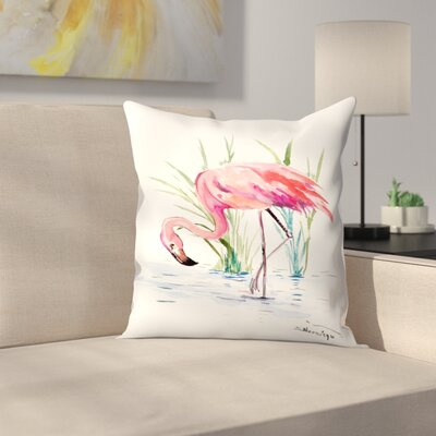 Suren Nersisyan Flamingo 4 Throw Pillow Size: 16 x 16
