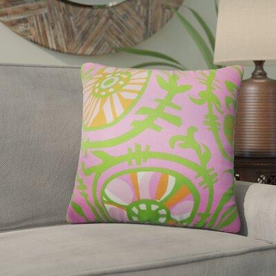 Wickson Modern Geometric Cotton Throw Pillow Color: Pink