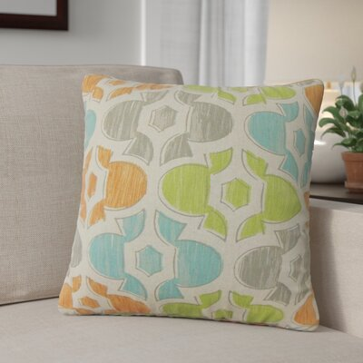Sevier Geometric Cotton Throw Pillow Color: Orange