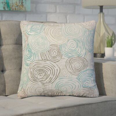 Zeus Graphic Linen Throw Pillow Color: Brown