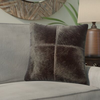 Graham Plain Throw Pillow Color: Brown