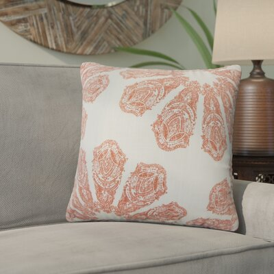 Pismo Beach Ikat Down Filled 100% Cotton Throw Pillow Size: 24 x 24, Color: Coral