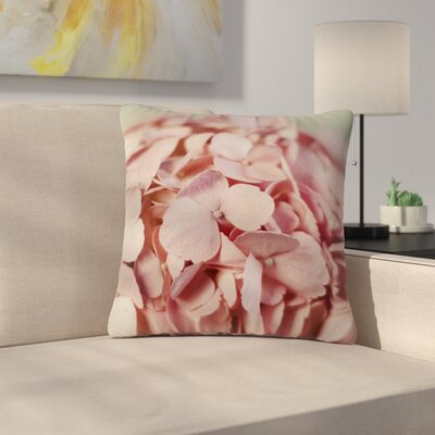 Cristina Mitchell Hydrangea Photography Nature Outdoor Throw Pillow Size: 18 H x 18 W x 5 D