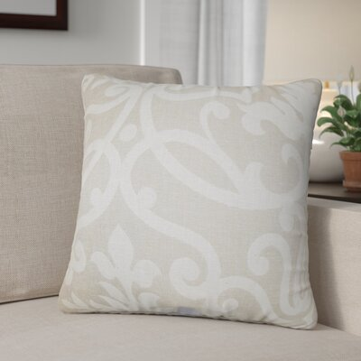 Petetia Floral Throw Pillow Color: Linen