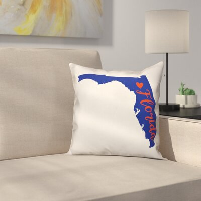 Florida Pride Throw Pillow