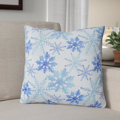 Watercolor Snowflakes Outdoor Throw Pillow
