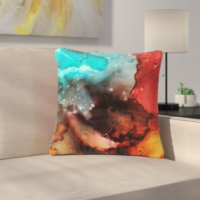 Abstract Anarchy Design Birth Place of the Heavens Abstract Outdoor Throw Pillow Size: 18 H x 18 W x 5 D