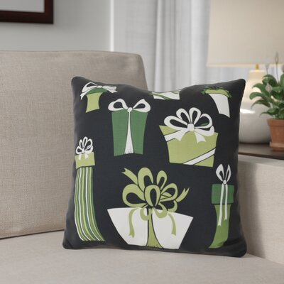 Present Time Outdoor Throw Pillow Size: 18 H x 18 W, Color: Black