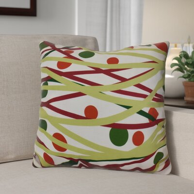 Doodle Decorations Outdoor Throw Pillow Size: 18 H x 18 W, Color: Green