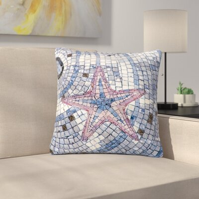 Debbra Obertanec Mosaic Starfish Nautical Outdoor Throw Pillow Size: 16 H x 16 W x 5 D